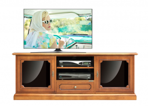 Living room entertainment cabinet in wood