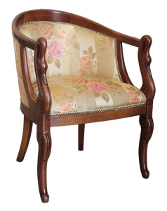 Small armchair with swan carved motive