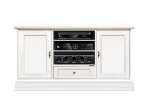 Lacquered entertainment cabinet in wood