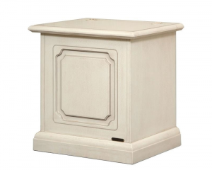 Space saving storage chest 50 cm in wood,