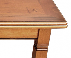 Inlaid extendable table 170-250 cm