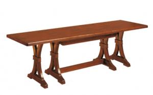 Extendable trestle dining table 180-360 cm