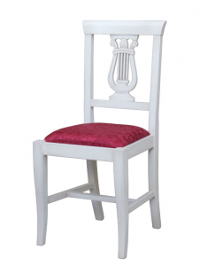 Lacquered wood chair Lira