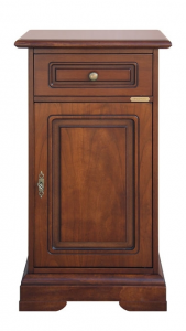 Wood side cabinet for entryway