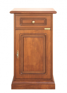 Entryway small cabinet 1 drawer 1 door in wood