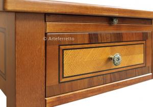3 drawer wooden desk 3 pullout shelves
