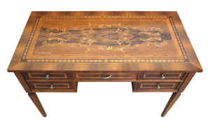 Inlaid 5 drawer desk