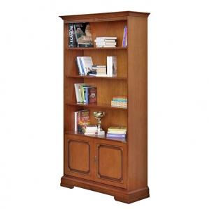 2 door bookcase and adjustable in height shelves