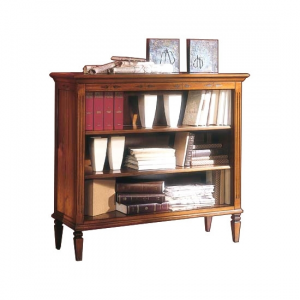 Classic low bookcase in wood