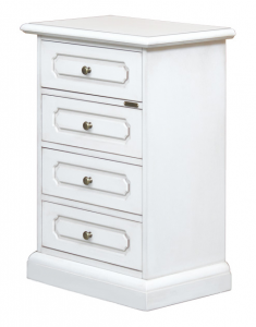 4 drawer bedside table in lacquered wood