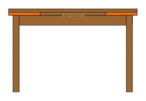 Extendable rectangular table 160 cm