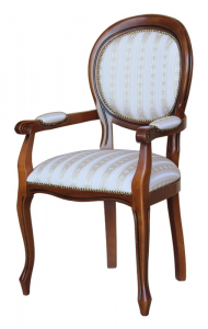 Dining chair with armrests