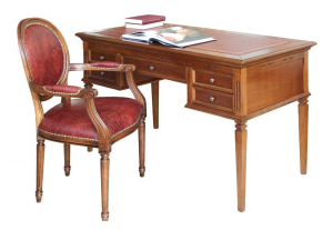 Leather top desk for office