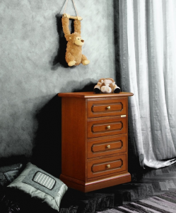 Classic 4 drawer bedside table