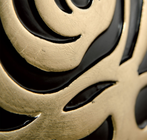Black dresser Rosa with gold decoration