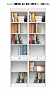 High functional bookcase in wood