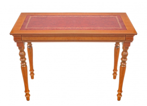 Small writing desk with leather top