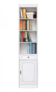 Modular bookcase 1 door 1 drawer