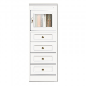 Compos Collection living room wood cabinet 4 drawers 1 glass door