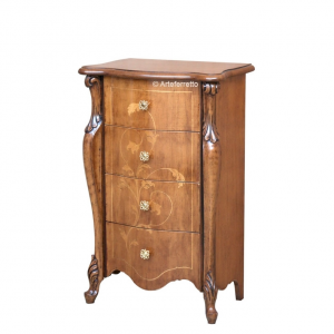 Inlaid chest of 4 drawers Sensazioni collection