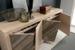 Ash wood sideboard for living room