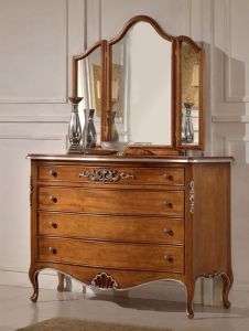 4 drawers decorated dresser