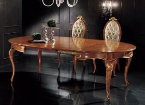 Shaped dining table Regina 140 - 240 cm