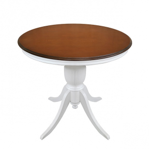 Two tone round table diameter 80 cm