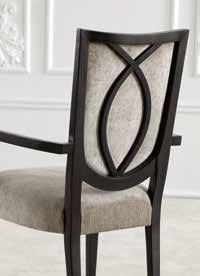 Arch design dining chair in wood