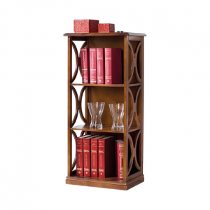 Small open shelving bookcase in wood Arco