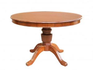 Extendable round table in wood, 120-160 cm