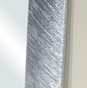 Silver leaf rectangular frame