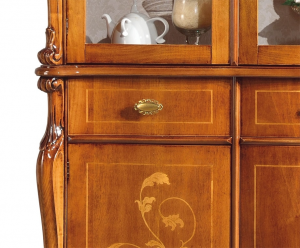 Inlaid display cabinet 6 doors 3 drawers