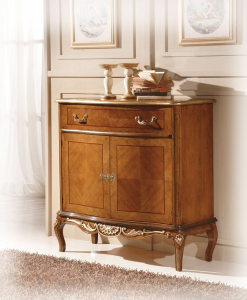 Inlaid shaped sideboard