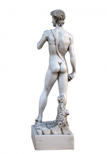 Lime wood sculpture inspired by David of Michelangelo