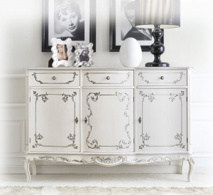 3 door decorated sideboard
