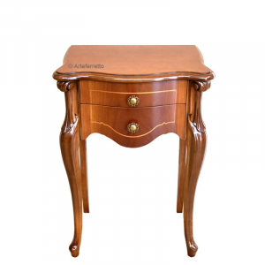 Shaped lamp table 2 drawers