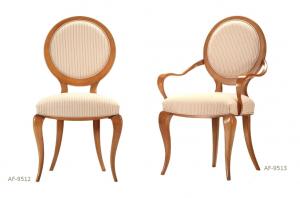 Italian design armchair in solid wood