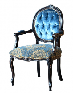 Upholstered armchair Blu Notte