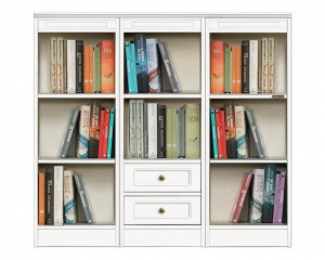 Low bookcase 2 drawers Compos Collection
