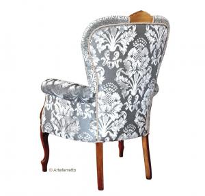 Upholstered living armchair