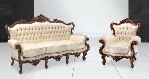 Carved armchair Barry Lyndon