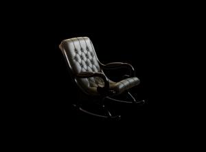 Wooden rocking armchair Dark