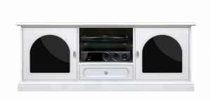 Elegant tv unit black and white