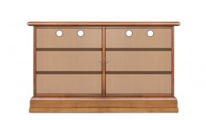 Low shoe cabinet in wood