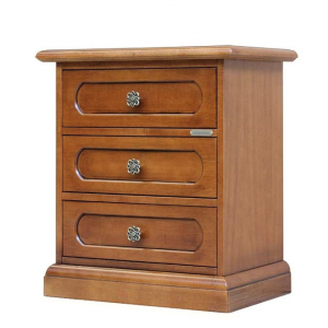 3 drawer bedside table in wood