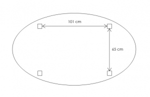 Oval extendable dining table 160-210 cm