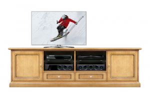 Wooden tv unit 2 meters long