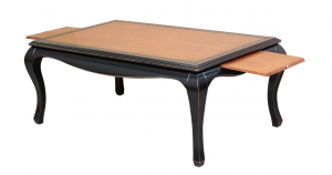 Two colour coffee table in wood
