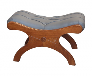 Padded footrest stool